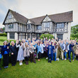 Group of volunteers and staff outside Blakesley Hall