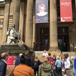 The group arrive at the outside the Walker Gallery
