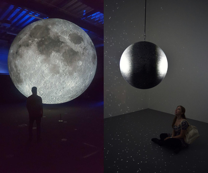 Luke Jerram Museum of the Moon (2016), Kate Paterson Totality (2016)