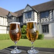 Blakesley Hall limited edition beer glasses