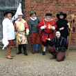 Gunpowder plot performance group outside Blakesley Hall