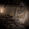 Ghostly figure at Blakesley Hall