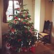 Decorated Christmas tree at Blakesley Hall