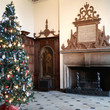 The Great Hall at Aston Hall with a Christmas tree