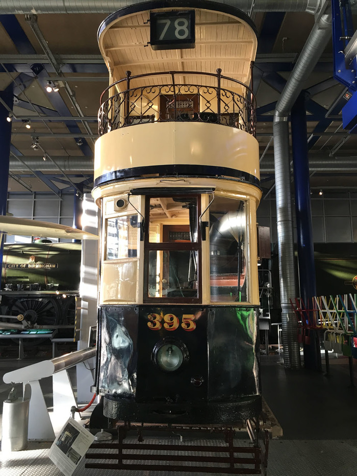 Tram number 395 at Thinktank