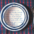 Recipes from visitors on paper plates