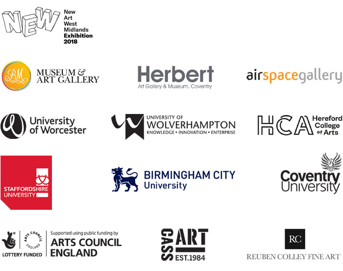 New Art West Midlands logos 2018