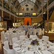 Industrial Gallery at Birmingham Museum and Art Gallery set up for a Wedding Breakfast
