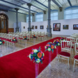 The Waterhall set up for a wedding / civil ceremony