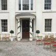 Soho House decorated for a outside wedding