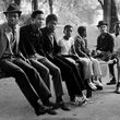 Young men on a see-saw in Handsworth Park, 1984  © Vanley Burke