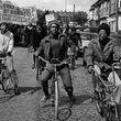 Out-riders head the African Liberation Day rally, Rookery Road, Handsworth, 1977 © Vanley Burke