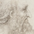 Cropped for page header. Leonardo da Vinci, The head of an old bearded man, c.1517-18  RCIN 912499 Royal Collection Trust/© Her Majesty Queen Elizabeth II 2018.