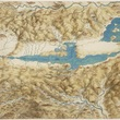 Leonardo da Vinci, A map of the Valdichiana, c.1503-6   RCIN 912278. Royal Collection Trust/© Her Majesty Queen Elizabeth II 2018.