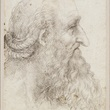 Leonardo da Vinci, The head of an old bearded man, c.1517-18  RCIN 912499. Royal Collection Trust/© Her Majesty Queen Elizabeth II 2018.