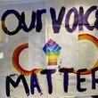 Our Voices Matter sign