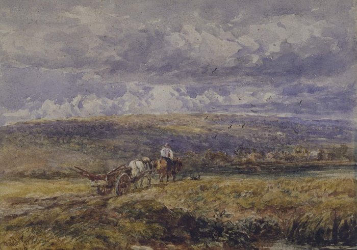 Carting Home the Plough by David Cox, 1848