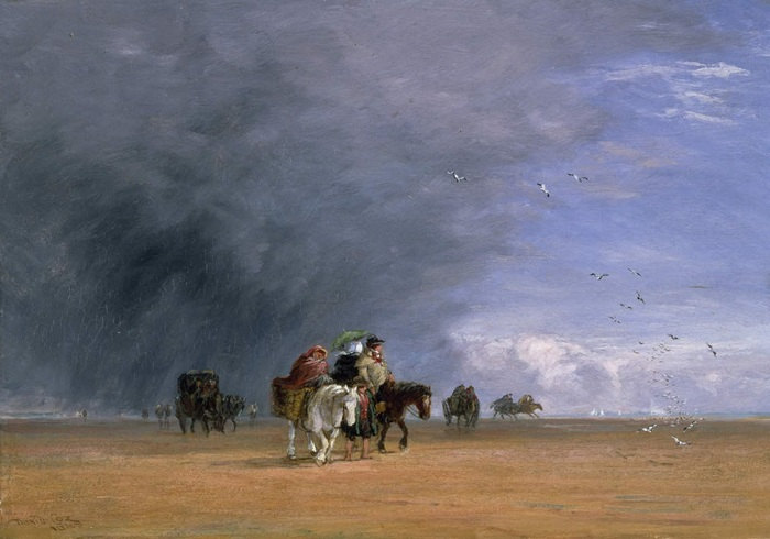 Crossing the Sands by David Cox, 1848