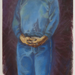 Claudette Johnson, Trilogy (Part One) Woman in Blue, 1982-86. Arts Council Collection, Southbank Centre, London © the artist
