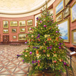 Christmas tree in the Round Room