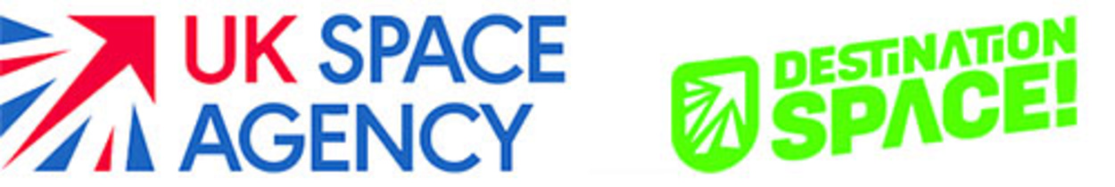 UK Space Agency and Destination Space logos