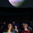 Visitors at the planetarium