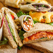 Selection of sandwiches and wraps