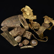 Staffordshire Hoard before conservation by David Rowan