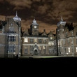 Aston Hall at Halloween at night