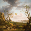 The Mouth Of An Estuary by George Lambert (1750-60)
