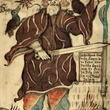 "Odin with Hugin and Mugin.   A Norse mythology image from the 18th century Icelandic manuscript ""NKS 1867 4to"", now in the care of the Danish Royal Library."