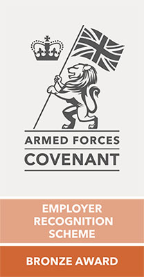 Armed Forces Covenant Employer Recognition Scheme (ERS) Bronze Award logo