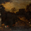 [Before restoration] Autumn, c.1605-1610 Joos de Momper the Younger and workshop of Jan Brueghel the Elder
