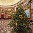 Round Room with Christmas trees