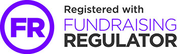 Registered with the Fundraising regulator (logo)