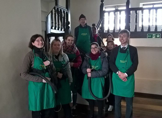 Group of conservation club volunteers
