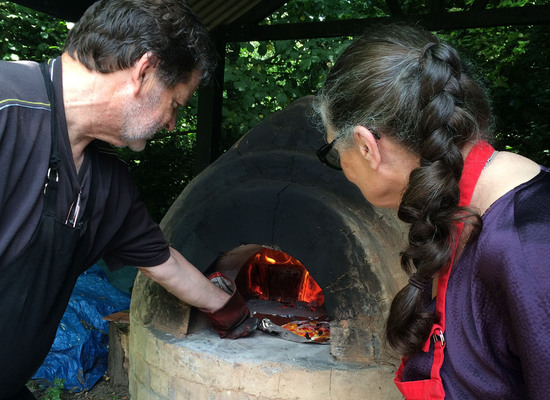 Pizza making at Sarehole Mill