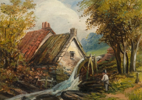 Sarehole Mill* by Edward Wilden. (*It is said to be Sarehole Mill by the donor who gave the artwork).