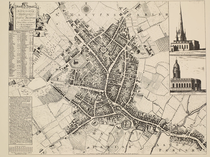 A Plan of Birmingham Surveyed in 1750