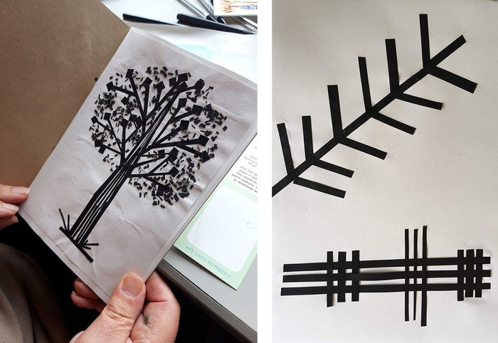 Straight lines art activity