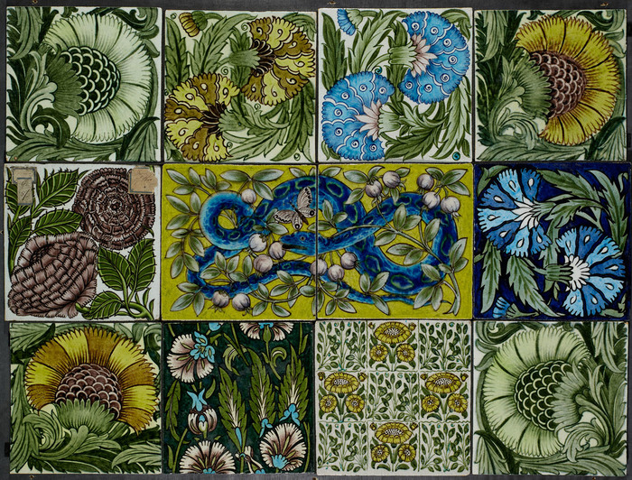Panel of Wall Tiles by William De Morgan