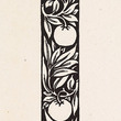 Woodcut: Love is Enough - narrow Band of Ornament with Apples and Foliage, 1872 By William Morris