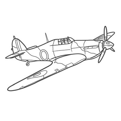 Hurricane colouring image