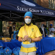 Jaspreet volunteering with the Sikh Soup Kitchen