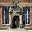 The front door at Aston Hall
