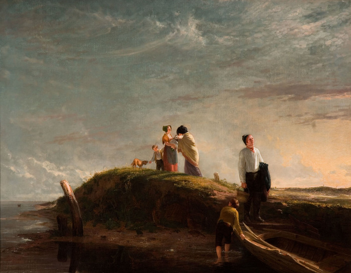 The Reluctant Departure by William Collins, 1815