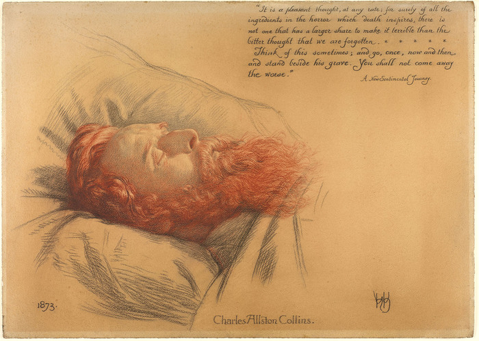 Charles Allston Collins after death by William Holman Hunt, 1873