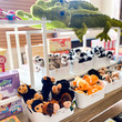 Soft toys on display in the shop at Birmingham Museum and Art Gallery